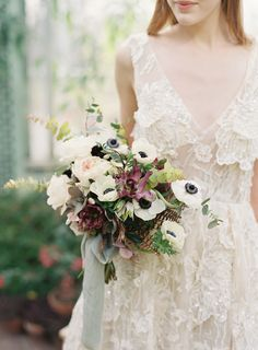 Berry and anemone wedding bouquet: Photography: Judy Pak Photography - judypak.com   Read More on SMP: http://www.stylemepretty.com/2017/04/13//