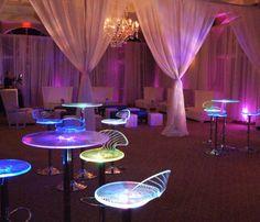 Acrylic LED Swirl High Tops & Bar Stools | Just Bars