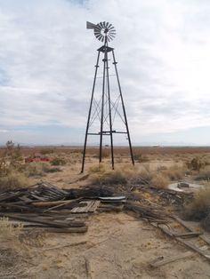 16b8520d04f7b0 Windmill in the eastern Mojave Desert.
