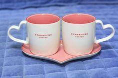 2007 starbucks mug Valentine's Day set RARE!!!