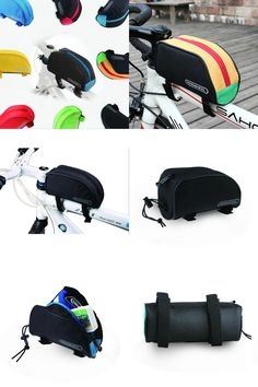 [Visit to Buy] Outdoor sports Bike Front Top Tube Bag Cycling Basket Bicycle Panniers Bycicle Polyester Frame Bag Red Blue Bike Saddle Bags #Advertisement