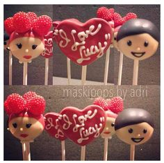 I love Lucy cake pops