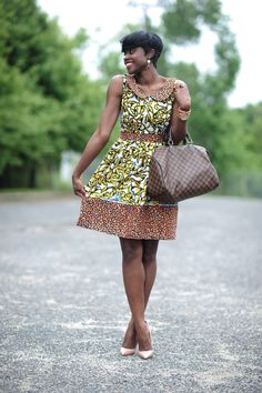 Discover this look wearing Valerie Black Dresses, Louis Vuitton Bags, Christian Louboutin Heels - Ankara Style by SkinnyHipster styled for Chic, Baby Shower in the Spring African Print Dresses, African Print Fashion, Africa Fashion, African Dress, African Attire, African Wear, African Women, African Style, Ankara Dress Designs