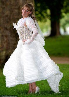 White Balloon Wedding Dresses Designs Ideas  This is a balloon wedding dress design ideas , the design of this white dress l...