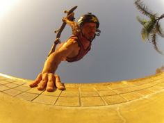 GoPro rockstar Bucky Lasek handplants it in his backyard pool.