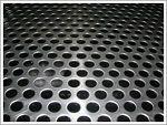Till egen maltkorg - Perforerad rostfri plåt, runda hål med triangelindelning. Kvalitet SS2333.