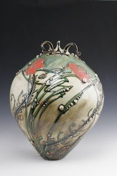 Bottles - Carol Long Pottery .. this lady does crazy beautiful stuff !