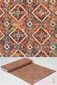 100% cotton fabric with plain cream reflective geometric motif on gorgeous sepia multicolour background, Dan Morris Design, very high quality fabric, typical great quality from the USA #Cotton #Retro #USAFabrics Dan Morris, Retro Fabric, Printing On Fabric, Cotton Fabric, Quilts, Cream, Usa, Design, Home Decor