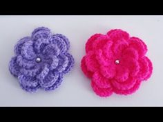 Crochet Designs, Crochet Brooch, Creative Embroidery, Baby Girl Crochet, Crochet Flowers, Flower Patterns, Jewelry, Crocheted Flowers, Girly Girl