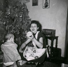 Image detail for -granny some time in the 1950 s at christmas