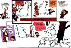 Calvin and Hobbes Snow Art Gallery