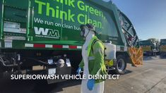 Superior Wash works to mitigate by disinfecting cab interiors. Garbage Truck, We Run, Green Leaves, Appreciation, Interiors, Cleaning, Decoration Home, Home Cleaning, Decor