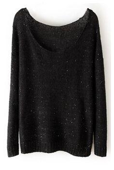 Mode Style, Style Me, Alternative Rock, Black Jumper, Black Sweaters, Pullover Sweaters, Slouchy Sweater, Loose Sweater, Women's Sweaters