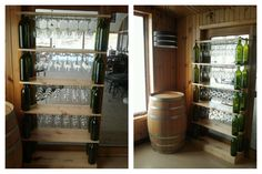 Getting crafty around here! Sarah created this great shelf to hold our deck glassware.