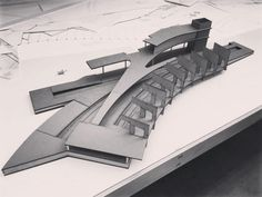 by WIP: Model for daylighting study purposes this coming wednesday. Crafted by my wonderful partner Concept Models Architecture, Futuristic Architecture, Landscape Architecture, Architecture Design, Chinese Architecture, Architecture Office, Deconstructivism, 3d Modelle, Arch Model