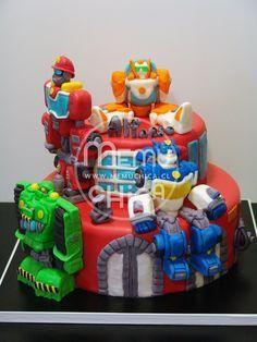 Resultado de imagen para rescue bots cake