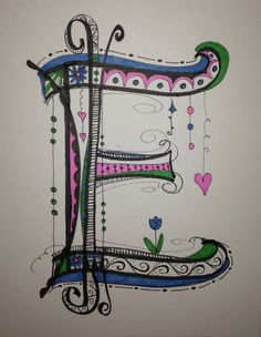 My Zen Tangle / Doodle Art   Working on the alphabet,