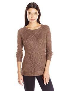 d2702cec955 Long sleeve solid crew neck mix stitch cable sweater     Read more at the
