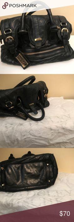 Badgley Mischka Bag Black Badgley Mischka bag with optional crossbody strap! Barely used. Includes dust bag. Badgley Mischka Bags Satchels