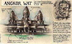 Angkor Wat - city of temple  Drawing by Lenita92 my daughter.
