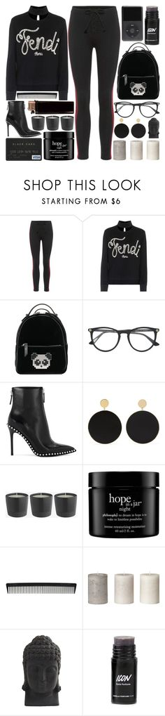 """""""The Way That I Am"""" by pure-and-valuable ❤ liked on Polyvore featuring Yeezy by Kanye West, Fendi, Les Petits Joueurs, Gucci, Alexander Wang, Arme De L'Amour, philosophy, T3 and Nearly Natural"""