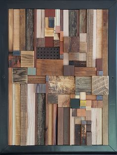 - Wood Art - Building Around the Well by Heather Patterson (Wood Wall Sculpture Building Around the Well by Heath. Scrap Wood Art, Reclaimed Wood Art, Wooden Wall Art, Diy Wall Art, Wall Wood, Art On Wood, Wood Artwork, Reclaimed Wood Projects, Wood Sculpture