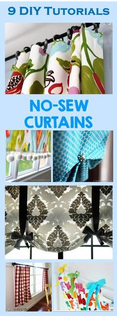 9 diy tutorials no sew curtains cheer and cherry l
