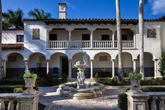 Miami Beach, Villa, Florida, United States, Patio, Mansions, House Styles, Building, Home Decor