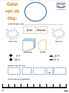 Getal van de dag Todo List, Back 2 School, Math Stations, Classroom Inspiration, School Hacks, Kids Education, Math Activities, Fun Learning, Classroom Management
