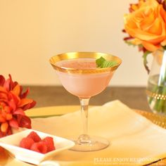 Smooth, delicious and subtly sweet! The Raspberry Peach Flip is a fabulous option during the transitional seasons. // 1 1⁄4 oz. Grand Marnier® Raspberry Peach spirit 1⁄4 oz. bitter-sweet, herbal liqueur 1⁄4 oz. heavy cream 1 full egg // In a mixing glass, add all ingredients shaken hard and fine- strained into a champagne flute or Nick & Nora glass. Garnish with any of the following freshly grated: cinnamon, nutmeg, dark chocolate, coconut, coffee beans, or garnish with fresh mint.