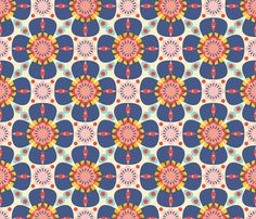 flori summer fabric by holli zollinger on Spoonflower - custom fabric