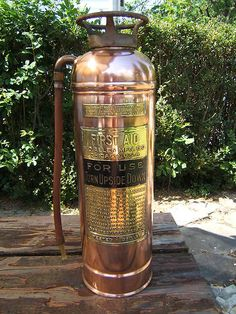 Vintage Fire Extinguisher Copper Brass Chicago antique! I have one of these