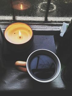 Rainy day, a cup of coffee