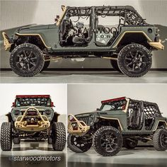 "Inspiring ….. Dream it, Build it www.jeepbeef.com www.starwoodmotors.com #RepTheBest _______ by @starwoodmotors ""Starwood Custom Jeep. Special Forces Ed. with @road_armor #starwoodmotors #jeep..."