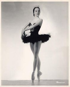 Sally Bailey as the Black Swan in Swan Lake, taken in the mid-1950's