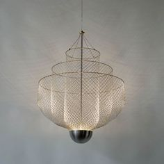 Chandeliers of Chicken Wire by Rick Tegelaar:
