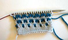 Tricksy Knitter - Knitting Techniques: Slip Stitch Colorwork Part II Slip Stitch Knitting, Knitting Stiches, Single Crochet Stitch, Hand Knitting, Knitting Patterns, Knit Stitches, Knitted Flower Pattern, Knitting Daily, Crochet Instructions