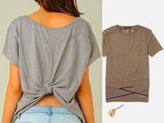 Trendy Diy Fashion Ideas Refashioning Upcycling T Shirts Upcycle T Shirts, Old T Shirts, Diy Cut Shirts, Sewing Shirts, Men Shirts, Diy Old Tshirts, Sewing Clothes, Zumba Shirts, Workout Shirts