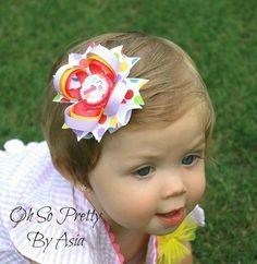 Birthday Hair Bow - 1st 2nd 3rd 4th 5th Birthday Hair Bow - Polka Dot Hair Bow - Lavender Yellow Pink Hair Bow - YOU PICK BOTTLECAP on Etsy, $6.00