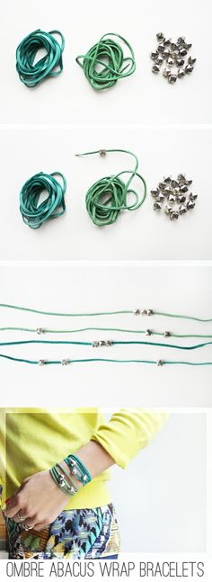 :: Meet Me At Mikes : Good Stuff For Nice People: :: The One About Making Ombre Wrap Bracelets