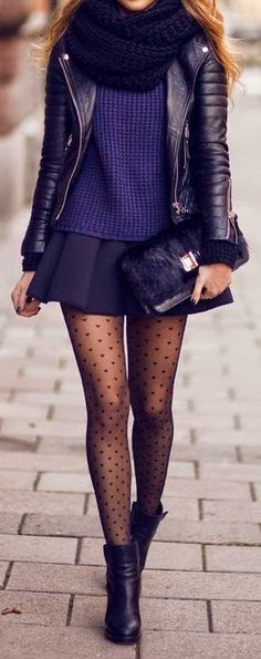 Purple street fashion style