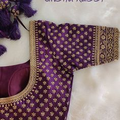 South Indian Weddings, South Indian Bride, Bridal Blouse Designs, Saree Blouse Designs, Aari Work Blouse, Thread Work, Christmas Stockings, Blouses, Embroidery