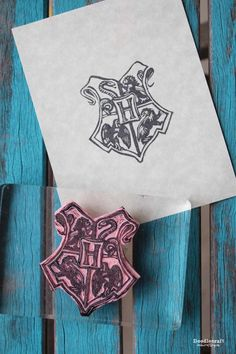 Hogwarts Crest Rubber Stamp DIY Its Harry Potter Week Lots Of Fun Wizardy Ideas All