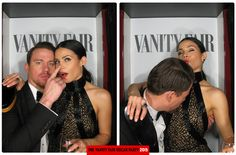 Inside the VF Oscar Party Photo Booth | Channing Tatum and Jenna Dewan-Tatum