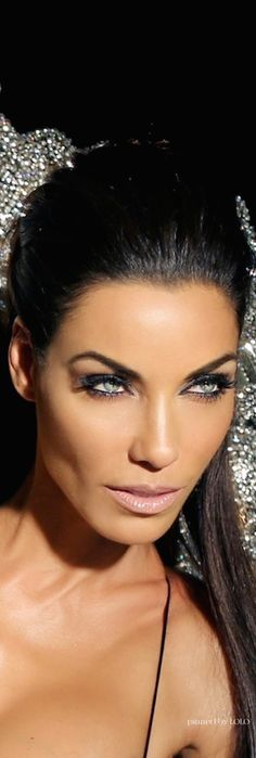 favorite makeup look for dark hair,tan skintone & light eyes.