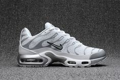 ebe924eb6376 Delicate Nike Air Max Plus TN Kpu Tuned White Silver Grey Black 604133 010  Men s Running Shoes Sneakers