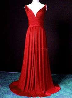 Convertible Dress Red Bridesmaid Dress Infinity by myuniverse