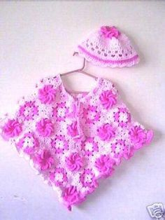 Granny Square ... by Tiggztoo | Crocheting Pattern - Looking for your next project? You're going to love Granny Square Flower Girls Poncho  by designer Tiggztoo. - via @Craftsy