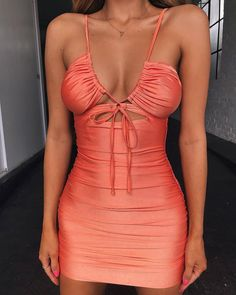 Strap Hollow Out Sexy Dress Women Criss Cross Knotted Slim Beach Bodycon Dress White Ruched Club Party Mini Dress Sexy Outfits, Club Outfits For Women, Sexy Dresses, Fashion Outfits, Sleeveless Dresses, Mini Dresses, Stylish Outfits, Sexy Going Out Dresses, Ladies Dresses
