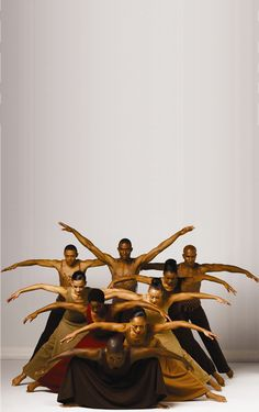 Dancers of The Alvin Ailey American Dance Theater, founded by African American choreographer and activist, Alvin Ailey.